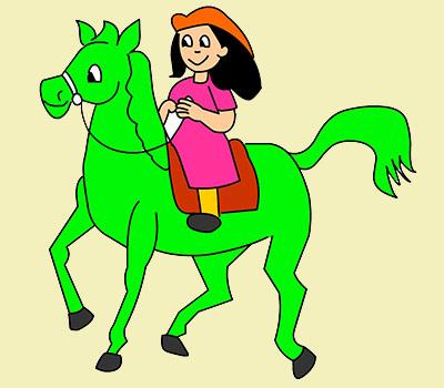 Cuento infantil Ana y el caballito verde